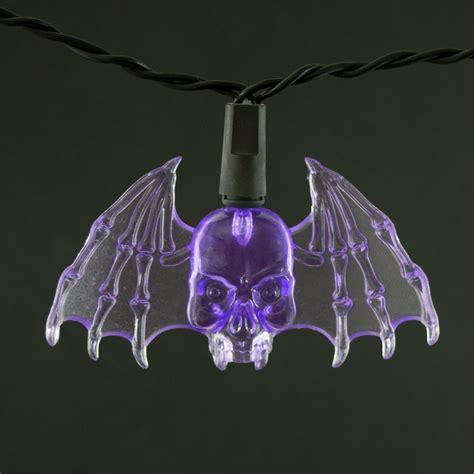 purple bat led string lights battery operated