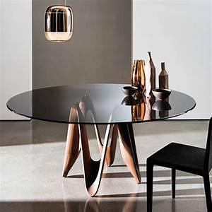 Table En Verre Ronde : table ronde design en verre lambda sovet 4 ~ Teatrodelosmanantiales.com Idées de Décoration