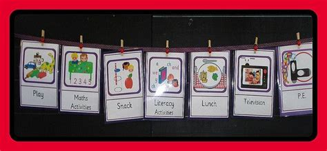 Visual Timetable  Visual Timetable, Montessori And School