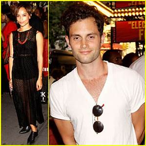 Zoe Kravitz & Penn Badgley: 'Fela!' Broadway Opening ...