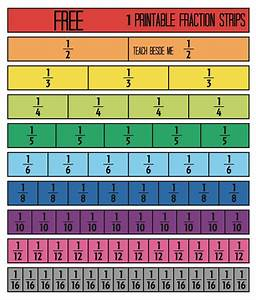 Free Printable Fraction Strips- Teach Beside Me - Teach ...