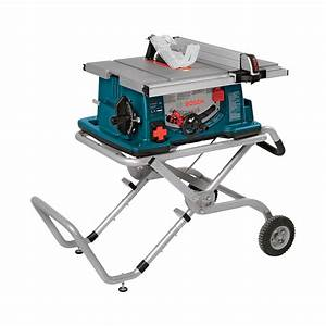 FREE SHIPPING — Bosch Jobsite Table Saw with Wheeled Stand