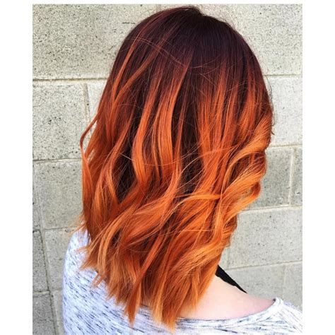 25 Glossy Orange Hair Color Ideas — From Bright Red Orange
