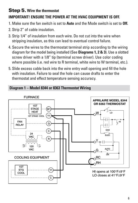 step 5 aprilaire 8344 user manual page 7