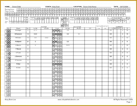 basketball player stat sheet template fabtemplatez