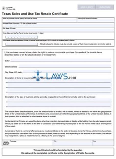 form 01 339 texas sales and use tax exemption certification sales tax forms laws