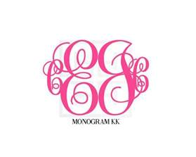 initial monogram  letter monogram  heatherleemonograms heather lee monograms
