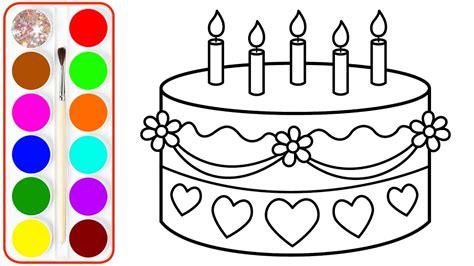 Cake Coloring Page Erieairfair