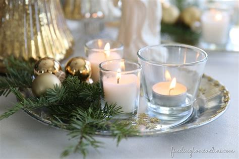 silver christmas candles decorating silver gold candle plate finding home farms