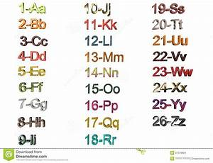Alphabet with numbers stock images image 37379804 for Alphabet photo letters
