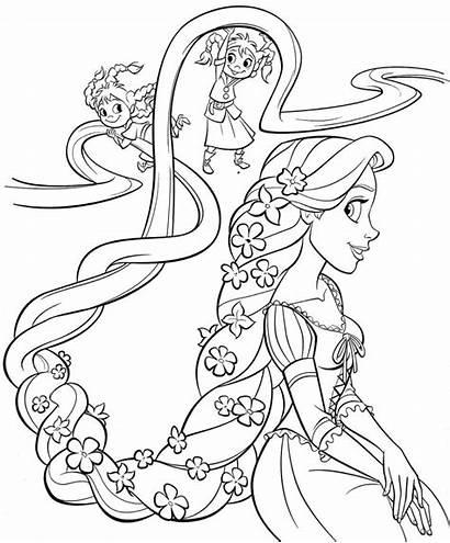 Rapunzel Coloring Pages Disney Princess