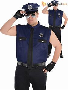 Adult Mens Police Officer Costume Policeman New York Cop Fancy Dress Uniform | eBay