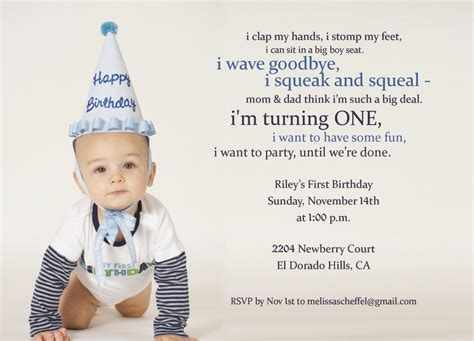 First Birthday Party Invitation Quotes