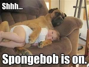 a funny kids watching spongebob - Dump A Day