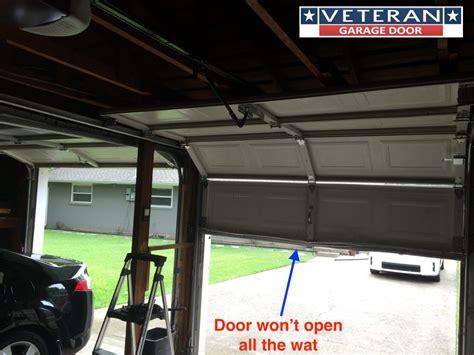 Open The Garage Door why won t my garage door opener open the door all way up