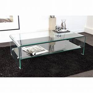 Table Basse Design Verre : tables basses tables et chaises table basse design side en verre tremp 12mm transparent ~ Teatrodelosmanantiales.com Idées de Décoration