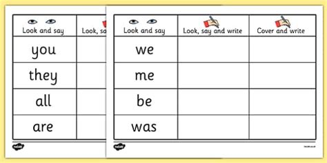 tricky words on writing practice worksheets trick worksheet