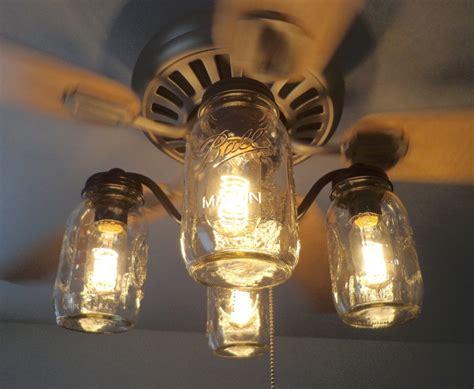 ceiling fan with mason jar lights mason jar ceiling fan light kit only new quarts by lgoods