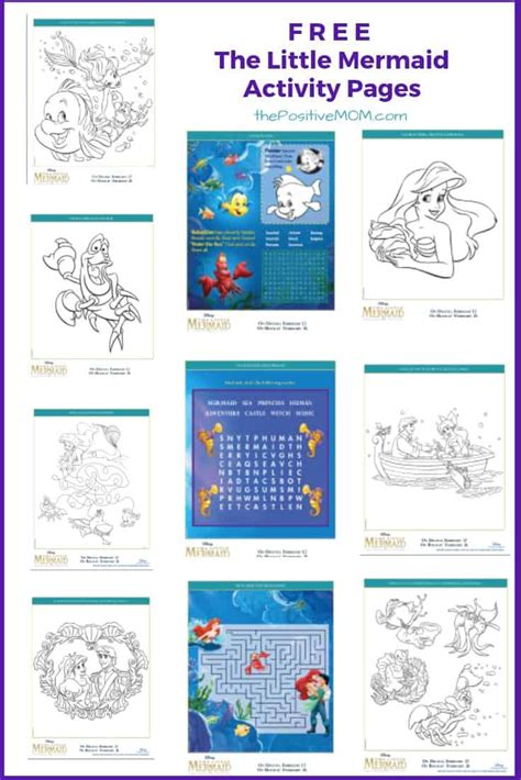 mermaid  printable coloring pages  activity sheets