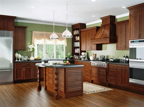 kitchen countertops and cabinets creek cornerstone brentwood in cherry 4318