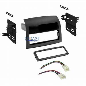 Single Din Car Radio Stereo Dash Kit Wire Harness For 2004