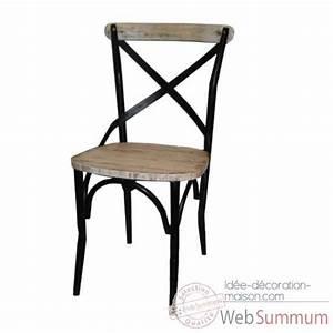 Chaise Fer Et Bois : chaise fer industriel courroie de transport ~ Teatrodelosmanantiales.com Idées de Décoration