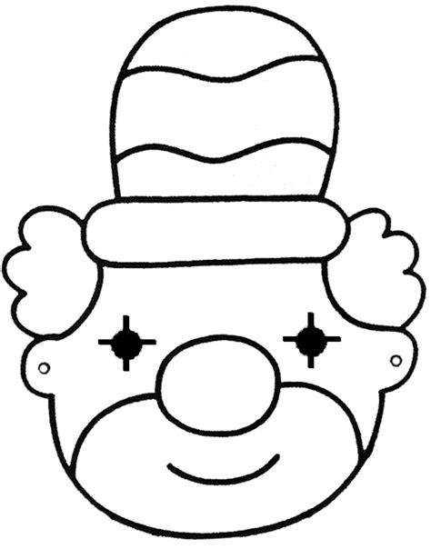 Clown Masker Kleurplaat by Knutselideeen Voor Kinderen Rondom Het Thema Carnaval