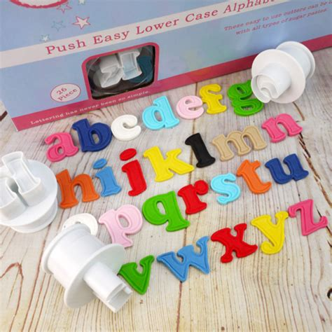 cake decorating alphabet cutters push easy lower alphabet cutters by cake