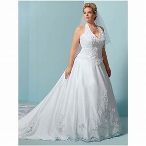 banh u banh u on pinterest With halter top wedding dresses plus size
