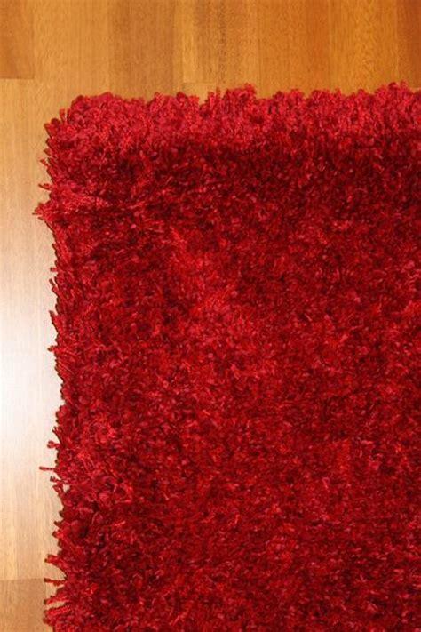 vloerkleed shaggy deluxe hoogpolig vloerkleed shaggy deluxe rood