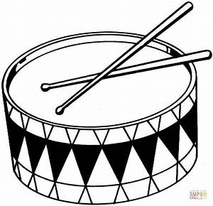 Drums coloring page | Free Printable Coloring Pages