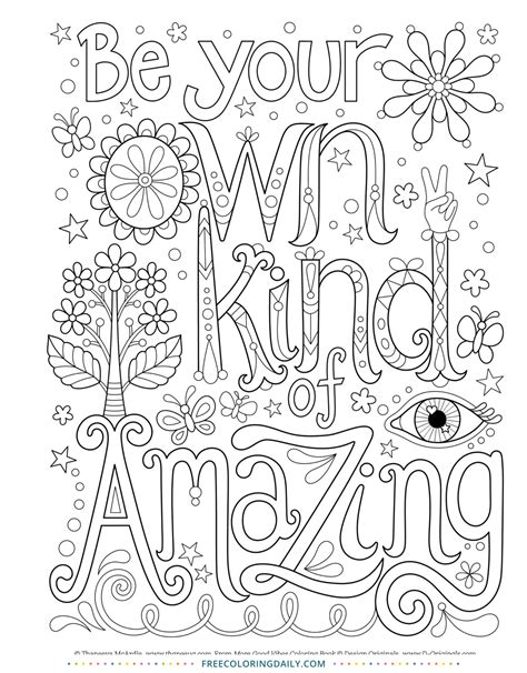 quote coloring page  coloring daily