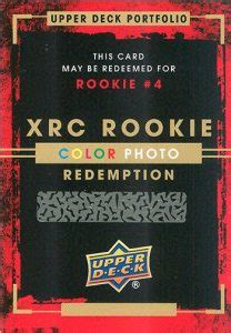 Deck Redemption Time by Ud Xrc Rookie Photo Redemptions Cards Hockeycards
