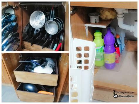 organizar el interior de los muebles de cocina