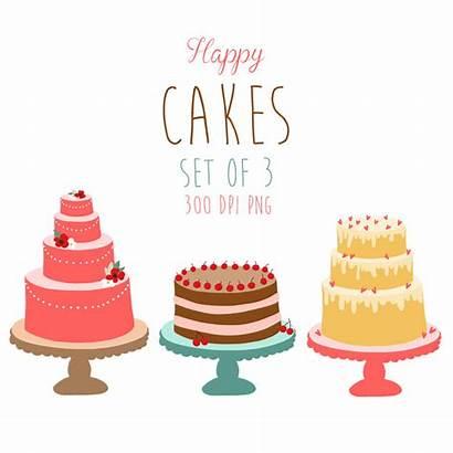 Cake Clipart Cliparts Clip Cakes Drawn Happy