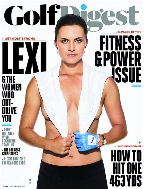 Lexi Thompson topless on Golf Digest magazine cover ...