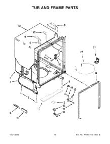 Parts For Whirlpool Wdfpadw Dishwasher