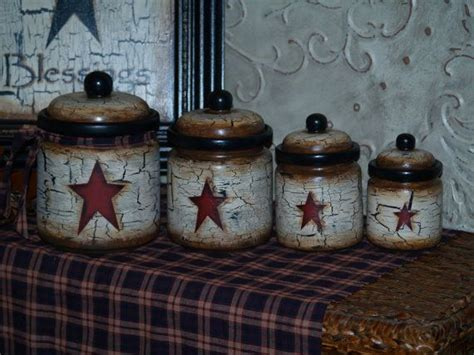 Primitive Kitchen Canister Sets by Farm House Rustic Primitive Vintage Canister Sets In