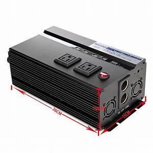 Power Inverter Car 2000  4000w Watt Usb Charger 12v Dc To