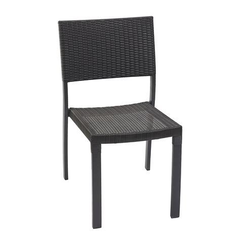 chaises tressées chaise de jardin en résine tressée gris anthracite leroy