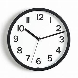 Horloge Pas Cher : horloge murale colors 22cm noir ~ Teatrodelosmanantiales.com Idées de Décoration