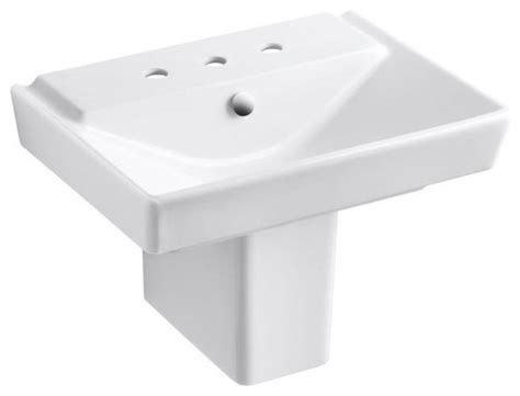 Kohler Reve Pedestal Sink by Kohler Bathroom Reve Semi Pedestal Combo Bathroom Sink In