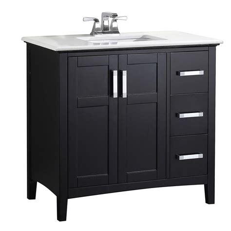 simpli home winston black undermount single sink bathroom
