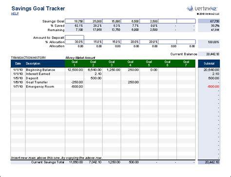savings goal tracker  people  budget