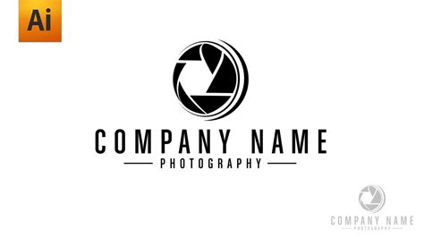 adobe illustrator tutorial photography logo youtube