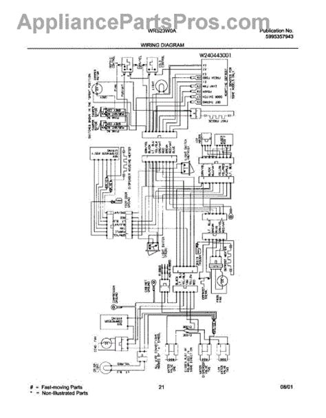 parts for white westinghouse wrs23w0aw1 wiring diagram parts appliancepartspros com