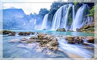 Desktop Vietnam Waterfall Gioc Wallpapers 1200 Backgrounds