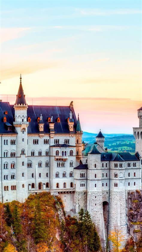 wallpaper castle neuschwanstein alps autumn bavaria