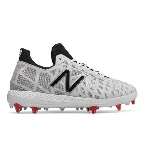 balance nb comp mens  cut cleats shoes white
