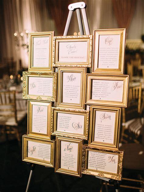 creative ways  display  wedding table plan